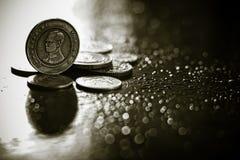 Монетка 10 батов тайского стоковые фото