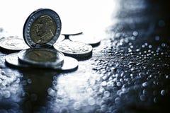 Монетка 10 батов тайского стоковое фото rf