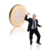 монетка бизнесмена Стоковые Фотографии RF
