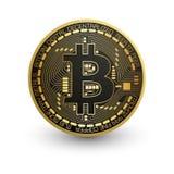 Монетка бита Электронная валюта Стоковые Изображения RF