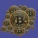 Монетка бита Электронная валюта Стоковое Изображение RF