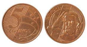 монетка Бразилии Стоковое Фото