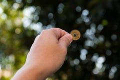 Монетка валюты Японии стоковое изображение