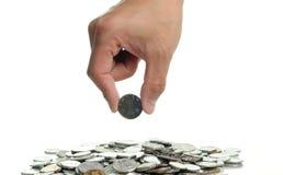 монетка выбирает вверх Стоковое Фото