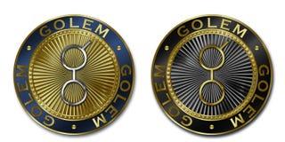 Монетка ГОЛЕМА Cryptocurrency Стоковое Фото