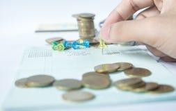 Монетка денег стоковые фото