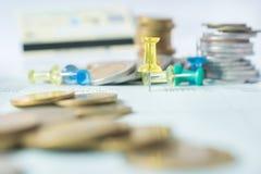 Монетка денег стоковое изображение rf