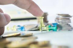 Монетка денег стоковые изображения rf
