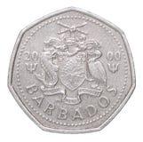 Монетка доллара Барбадос Стоковые Изображения