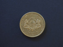 Монетка евро, Европейский союз Стоковое фото RF