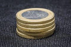 Монетка евро 5 стоковые фотографии rf
