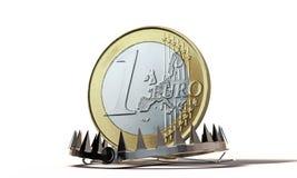 Монетка евро бесплатная иллюстрация