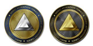 Монетка ЗНАКА ВНИМАНИЯ Cryptocurrency ОСНОВНАЯ ATTANTION Стоковые Фото