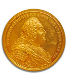 монетка золотистая Стоковая Фотография RF