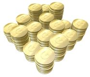 монетка золотистая стоковое фото rf