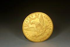 Монетка золото 10 долларов Стоковая Фотография