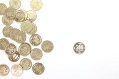 монетка 500 иен Стоковое Фото