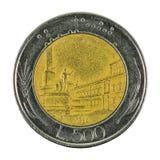 монетка 1983 итальянской лиры 500 изолированная на белой предпосылке стоковые изображения rf