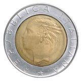 Монетка итальянской лиры Стоковое Изображение