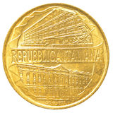 монетка итальянской лиры 200 Стоковое Изображение