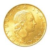 монетка итальянской лиры 200 Стоковые Фотографии RF