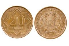 Монетка Казахстан Стоковые Фотографии RF