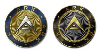 Монетка КОВЧЕГА Cryptocurrency Стоковое Изображение RF