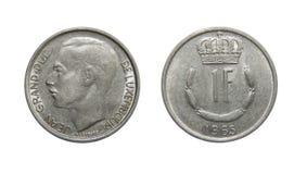 Монетка Люксембург 1 франк стоковое фото