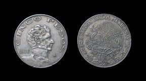 Монетка Мексики - столетия XX Стоковая Фотография RF