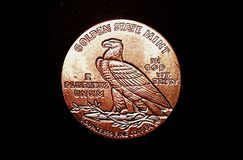Монетка мяты золотого штата медная Стоковая Фотография