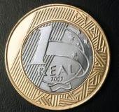монетка одно реальная Стоковое Изображение RF