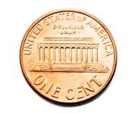 монетка одно цента Стоковое Изображение