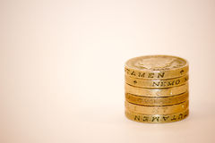 монетка один стог фунта Стоковая Фотография RF