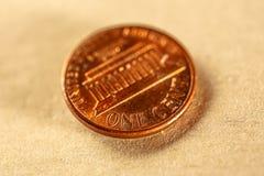 монетка одно цента Стоковые Фото