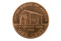 Монетка Пенни кабины Линкольна Стоковые Изображения
