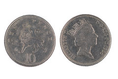 Монетка 10 пенни Стоковые Изображения RF