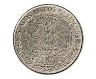 1 монетка песо (циркуляция Эстадоса Unidos Mexicanos) Банк Mexi стоковое фото