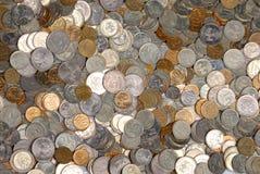 монетка предпосылки Стоковое Фото
