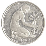 монетка пфеннига немецкой метки 50 Стоковая Фотография