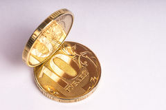 Монетка 10 рублевок Стоковые Фото
