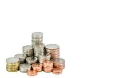 Монетка сбережений, изолированная монетка, тайская ванна Стоковые Фотографии RF