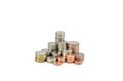 Монетка сбережений, изолированная монетка, тайская ванна Стоковое фото RF