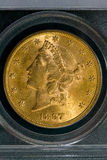 1897 монетка свободы золота Соединенных Штатов $20 Стоковое фото RF