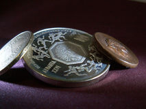 монетка старая Стоковое Фото