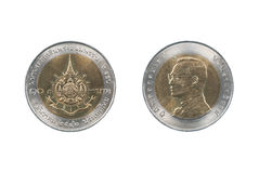 Монетка Таиланда Стоковое Изображение RF