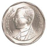 монетка тайского бата 5 Стоковое фото RF