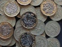 монетка 1 фунта, Великобритания Стоковые Фотографии RF