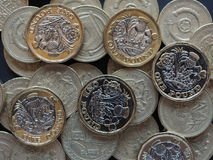 монетка 1 фунта, Великобритания Стоковые Изображения RF