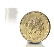 Монетка фунта Стоковая Фотография