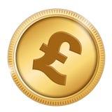 Монетка фунта Стоковые Изображения